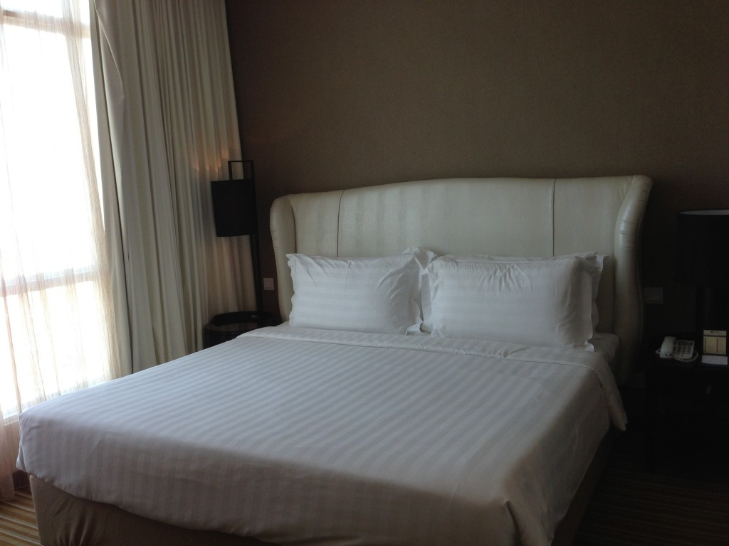 Our king size bed!