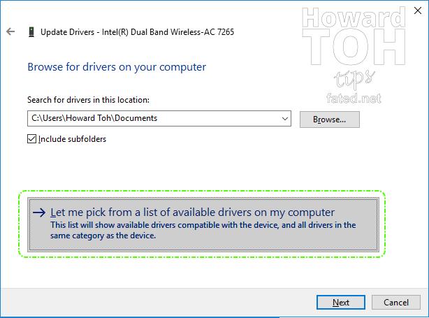 Intel Compute Stick Wireless AC 7265 can't start after Windows 10 Update
